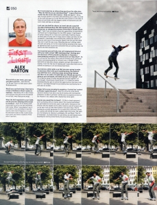 Alex Barton First light sidewalk magazine